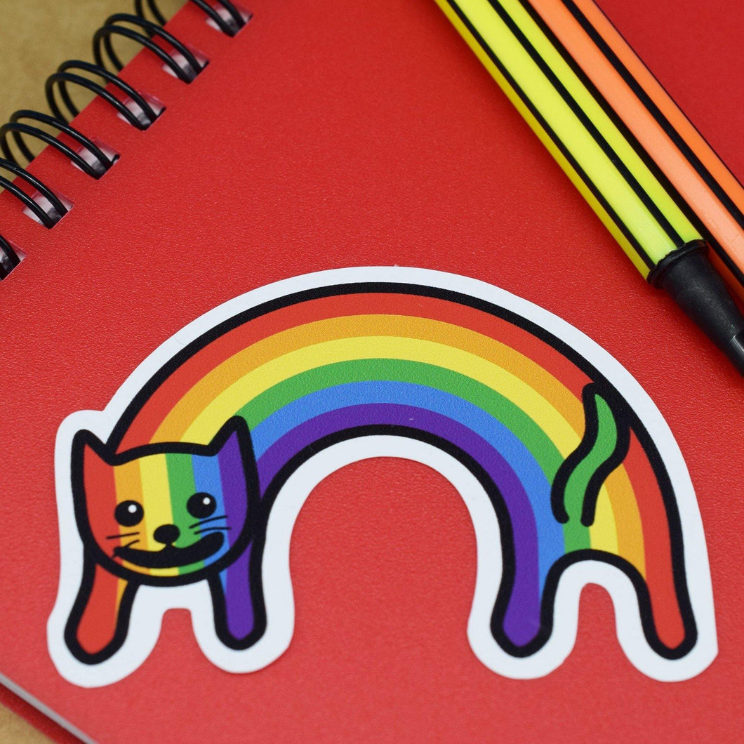 RAINBOW CAT VINYL STICKER - PACK OF 3 - Extreme Largeness Wholesale