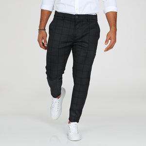DAKOVO - calças estampadas corte slim fit