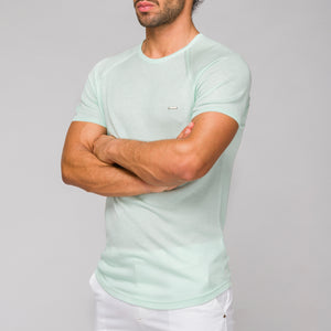 DIANI - t-shirt verde slim fit