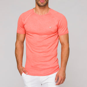 EAGLE - t-shirt coral slim fit