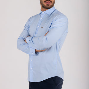 YUMA - camisa azul slim fit