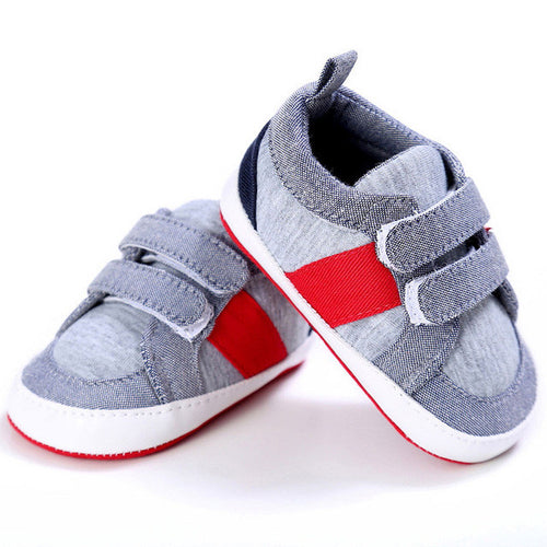 Baby Boys Twin Hook-and-Loop Strap Sneakers