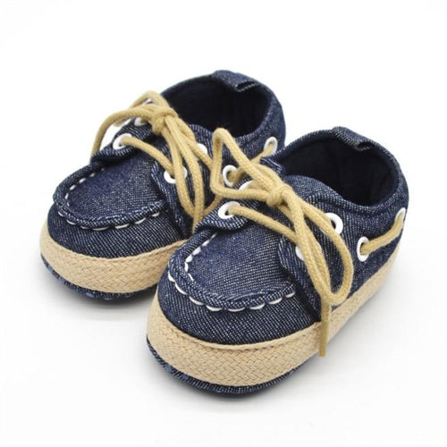 Baby Boys Boat Shoes (Blue, Red or White)