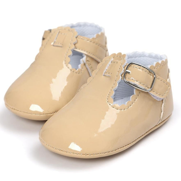 Baby Girls Gold Moccasins