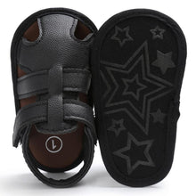 Baby Boys Closed Toe Sandals (Black)