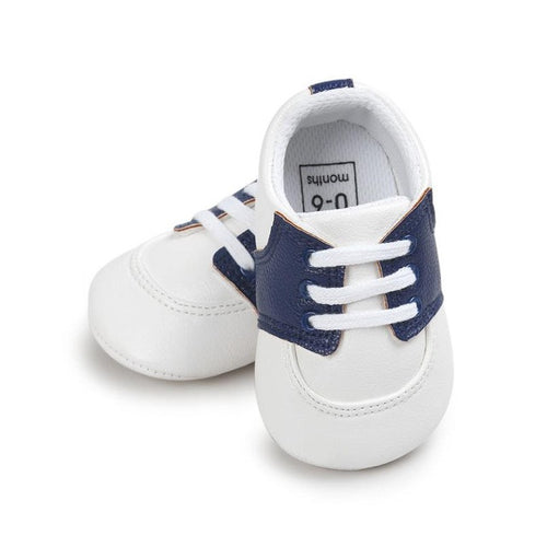Baby Boys Non-Slip Crib Sneakers (Sky Blue, Gold, Dark Blue or Black)