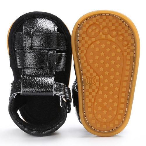 Baby Boys Leather Sandals (Brown or Black)