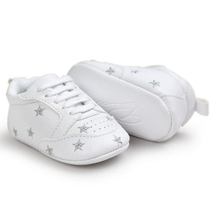 Baby Boys Sporty Sneakers with Star Designs