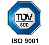 TÜV SÜD ISO 9001 certification marks Suzuran Baby compliance towards continuous product excellence.
