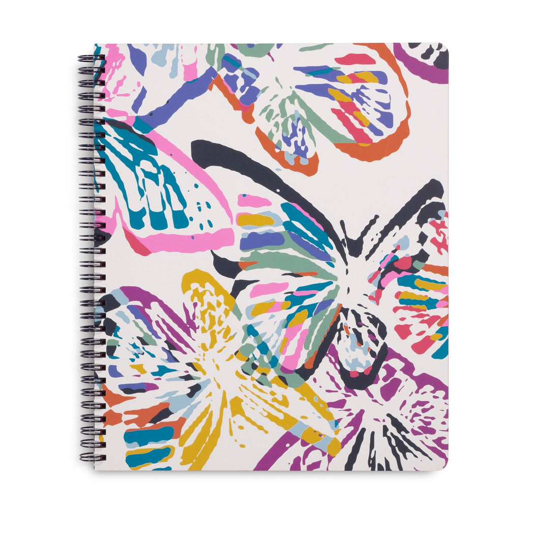 Vera Bradley Large Notebook, Butterfly Flutter
