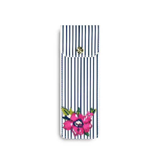 Vera Bradley Pen Pouch, Water Bouquet Stripe