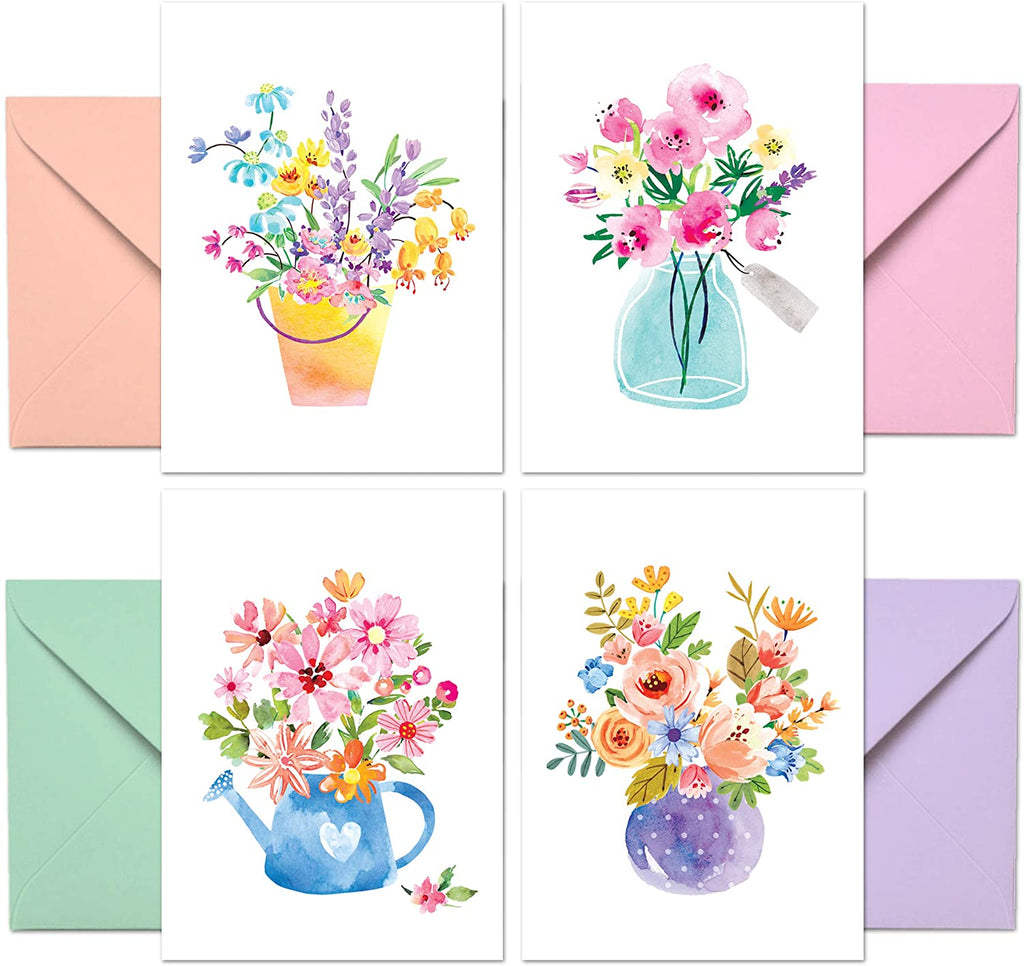 Floral Blank Note Card