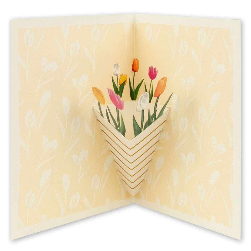 Yellow Tulips Card - Usmaa's Hampers & Gifts