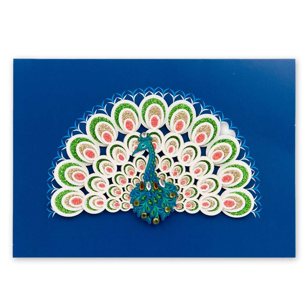 Peacock Card - Usmaa's Hampers & Gifts