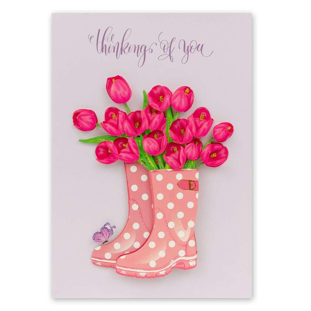 Tulips & Wellies Card - Usmaa's Hampers & Gifts