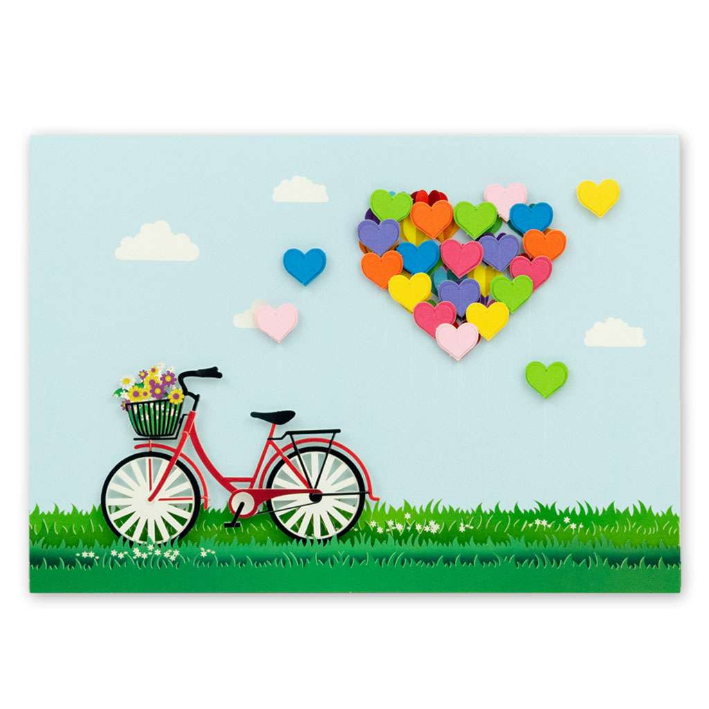 Bicycle Hearts Card - Usmaa's Hampers & Gifts