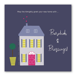 New Home - Barakah and Blessings Card | Usmaa's Hampers & Gifts