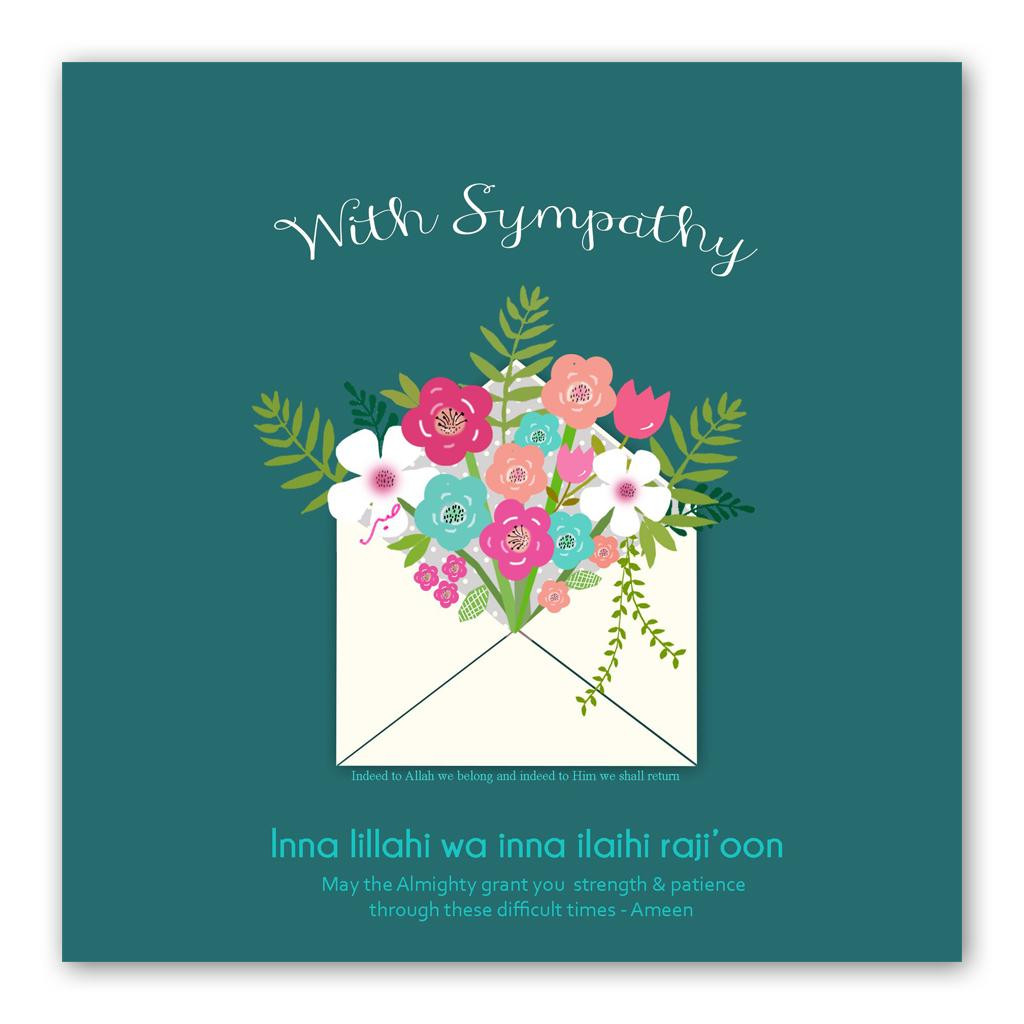 With Sympathy Flowers Card | Usmaa's Hampers & Gifts