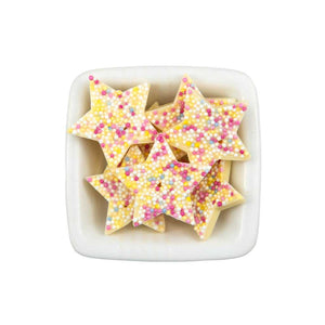 White Chocolate Stars Sweet Jar - Usmaa's Hampers & Gifts