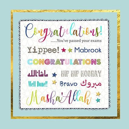Congratulations You've Passed Your Exams Card - Usmaa's Hampers & Gifts