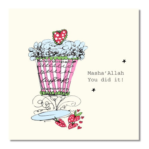 Masha'Allah You Did It Card - Usmaas Hampers & Gifts