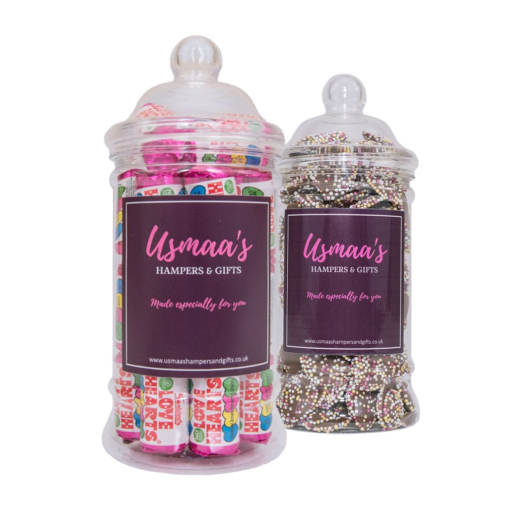 Sweet Jars - Pack of 2 - Usmaa's Hampers & Gifts