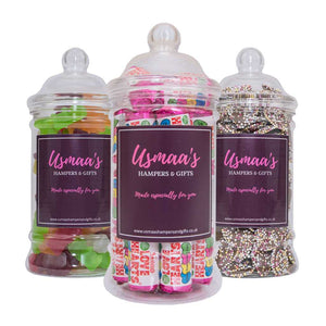 Sweet Jars - Pack of 3 - Usmaa's Hampers & Gifts