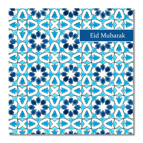 Topkapi Blue Tile - Eid Mubarak - Usmaas Hampers & Gifts