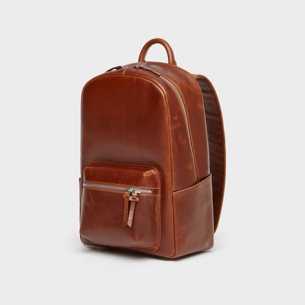 everyday backpack | brown leather backpack | luxury leather backpack | chelon