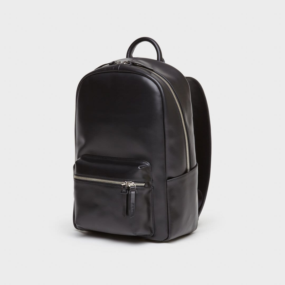 everyday backpack | black leather backpack | luxury leather backpack | chelon