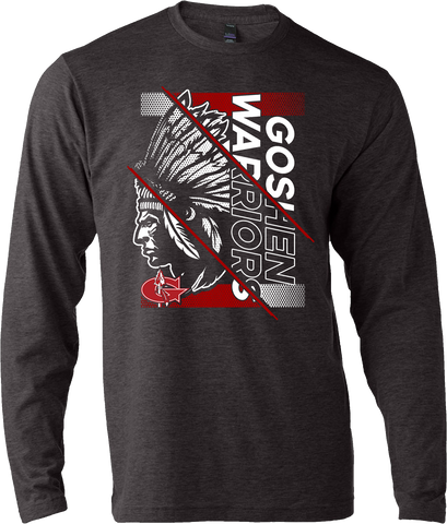 Goshen Warriors Giant Logo Design 4 Long Sleeve Tee