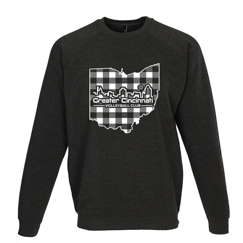 GCVC Buffalo Plaid State Volleyball Crewneck