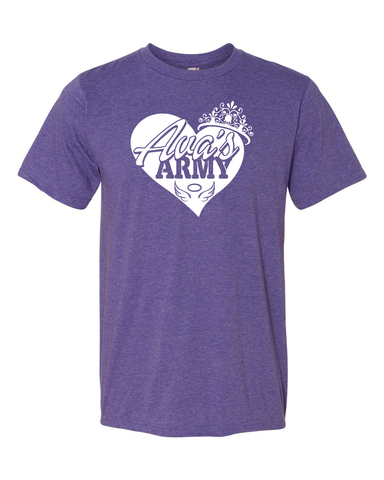 AVA'S ARMY PRINCESS HEART TEE