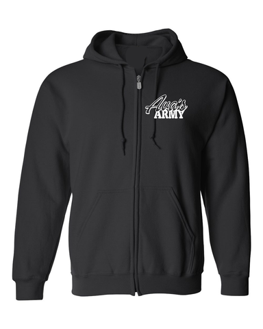 Ava's Army Squad  Zip Up Hoodie