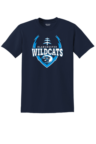 BLANCHESTER WILDCATS BIG LOGO FOOTBALL TEE