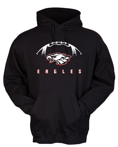 Milford Eagles Football Hoodie with Custom Name/Number