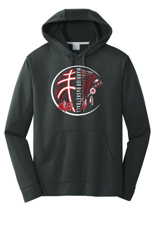 Goshen Basketball Big Warrior Head Poly Hoodie