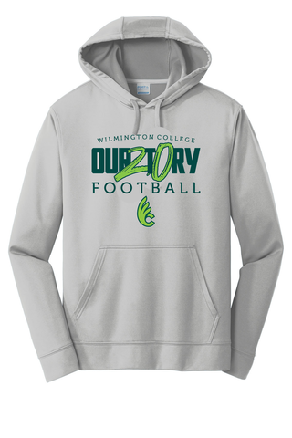 Wilmington College TUFFstreet OUR2T0RY 100% poly Hoodie