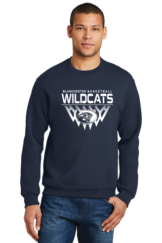 Blanchester Wildcats Youth Basketball Crewneck