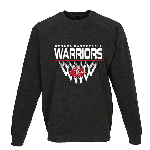 Goshen Warriors Faded Basketball Crewneck