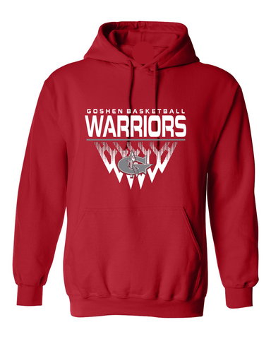 Warrior Basketball Faded Net Hoodie