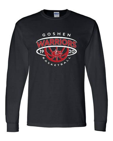 Warrior Basketball Crown Design Long Sleeve T-Shirt