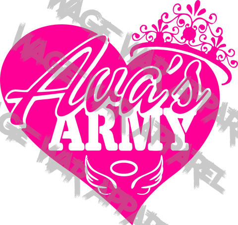 Ava's Army Car Decal