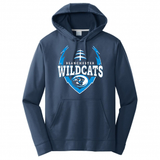 Blanchester Football big logo Poly Hoodie