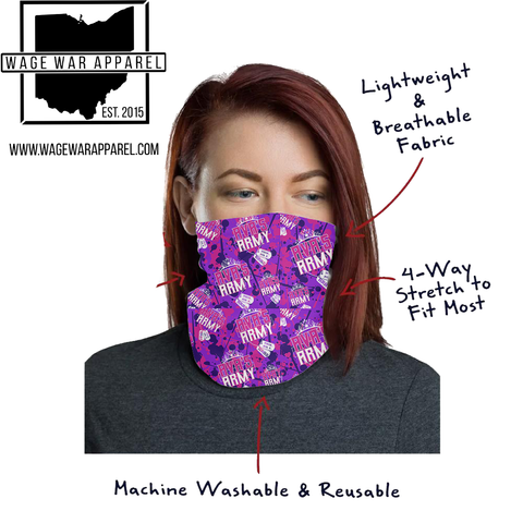 Avas Army Pink/Purple Neck Gaiter