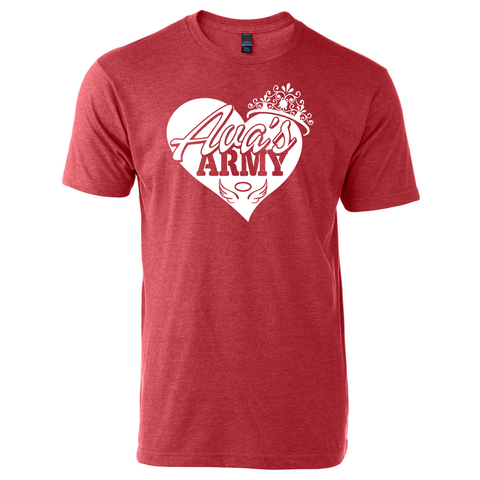 AVA'S ARMY PRINCESS RED HEART TEE