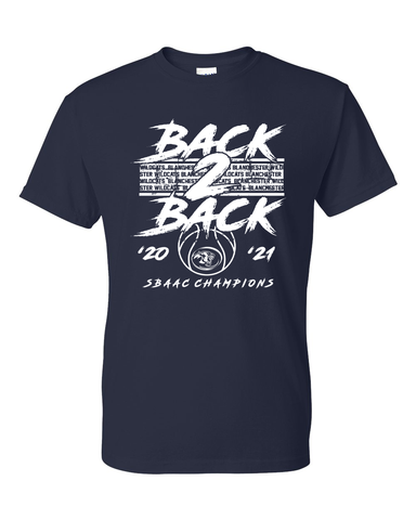 Blanchester Wildcats Basketball  Back 2 Back T-Shirt