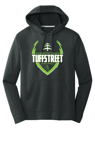 Wilmington College TUFFstreet 100% poly Game Day Hoodie
