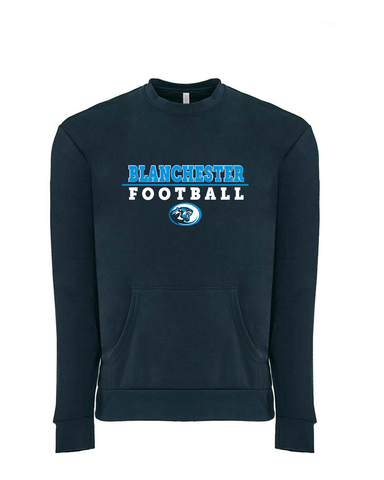 Blanchester Wildcats Football Team Crew neck With Pocket