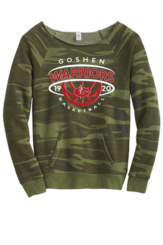 Warrior Basketball Dominance Camo scoop neck Sweatshirt